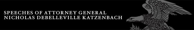 Speeches of Attorney General Nicholas deBelleville Katzenbach