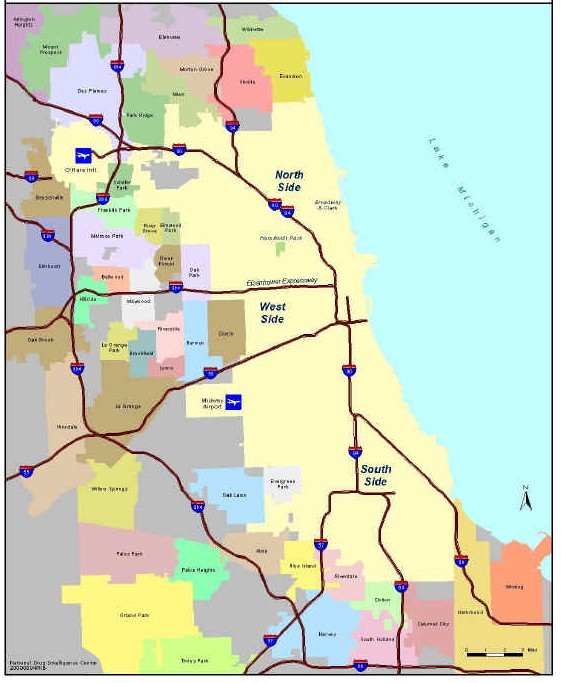 Map Of Chicago And Surrounding Areas Chicago Map