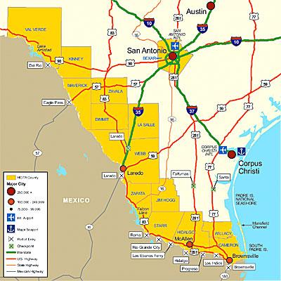 South Texas Border And San Antonio Market Areas  South