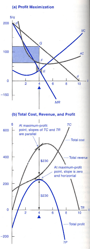 Chart illustrating the picture facing the monopolist.