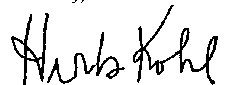 Signature of Herb Kohl