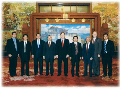 Assistant Attorney General Thomas O. Barnett leads delegation in meeting with the National People's Congress in Beijing.