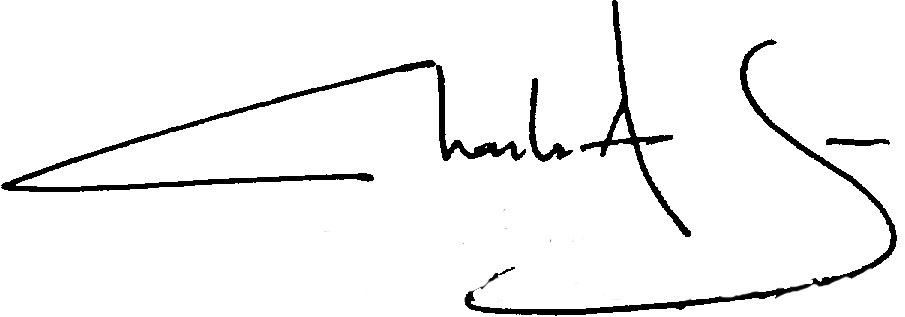 Charles A. James signature