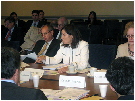 European Commission/Department of Justice Bilateral Meeting, July 2010. (L-R) Federal Trade Commission Chairman Jon Leibowitz, Assistant Attorney General for Antitrust Christine Varney, and Special International Advisor for Antitrust Rachel Brandenburger.