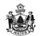 Maine State seal.
