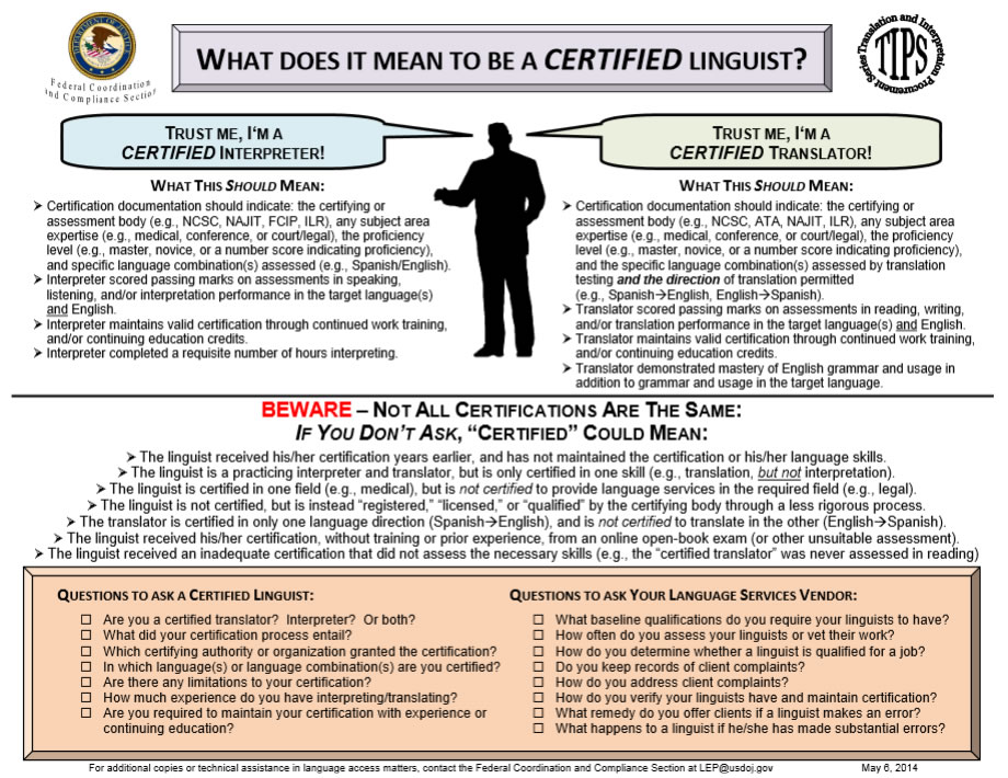 What Does it Mean to be a Certified Linguist?