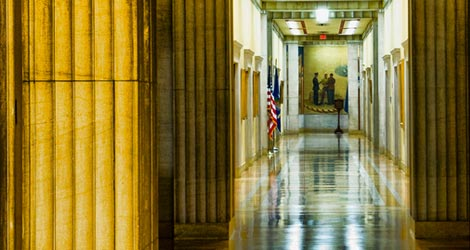 photo of hallway in RFK Main Justice Building