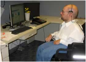 photograph of an Accessibility Specialist at work