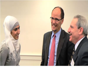 photograph of Assistant Attorney General Perez and Islamic Center of Murfreesboro leaders