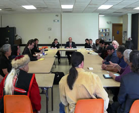 Assistant Attorney General Perez and U.S. Attorney McQuade meet with urban Native American Leaders