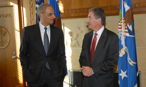Photo of Attorney General Holder and Deputy Attorney General Cole