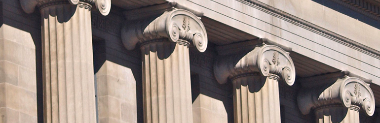 Architectural details showing the Department of Justice building.  Courtesy of Ned Wolff (DOJ).