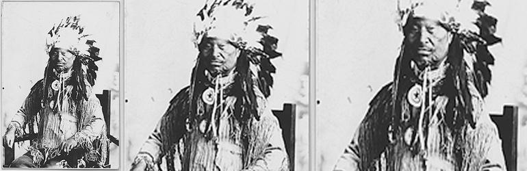 Chief Kack-Kack of the Prairie Band of Potawatomi, ca. 1925.  Courtesy of the National Archives.