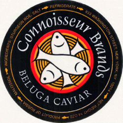 A can of Connoisseur Brands Beluga caviar.