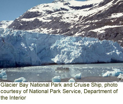Glacier Bay National Park and Cruise Ship. Courtesy of NPS.
