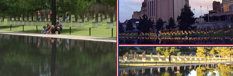 Scenes from the Oklahoma City National Memorial.  Courtesy of NPS.