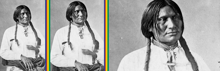 Big Foot (Sitanka), a Miniconjou Sioux of Cheyenne River Reservation, South Dakota; half-length, seated, wearing white shirt. Courtesy of the National Archives.