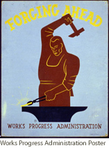 Works Progress Administration Poster. Courtesy of the Library of Congress.