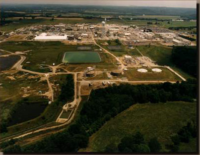 The Fernald Materials Production Center.  Courtesy of EPA.