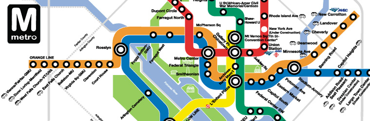 Washington dc Metro Area Map Map of dc Metro System