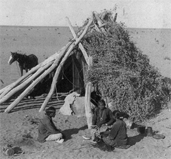 Typical Desert Home of the Navajo Indians, Navajo Reservation, Arizona, circa 1903.  Courtesy of the Library of Congress.
