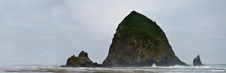 Haystack Rock, Oregon Coast.  Courtesy of  Jeff Bank (DOJ/ENRD)