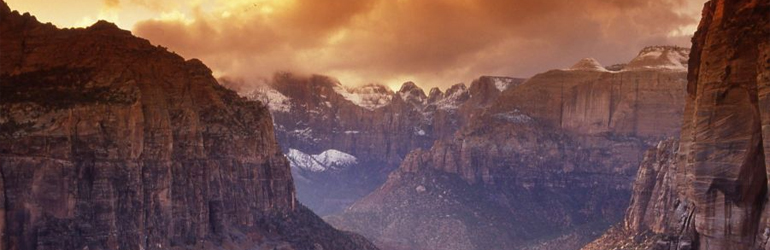 The Zion National Park.  Courtesy of NPS.