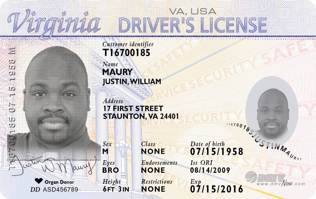 Example of Drivers License
