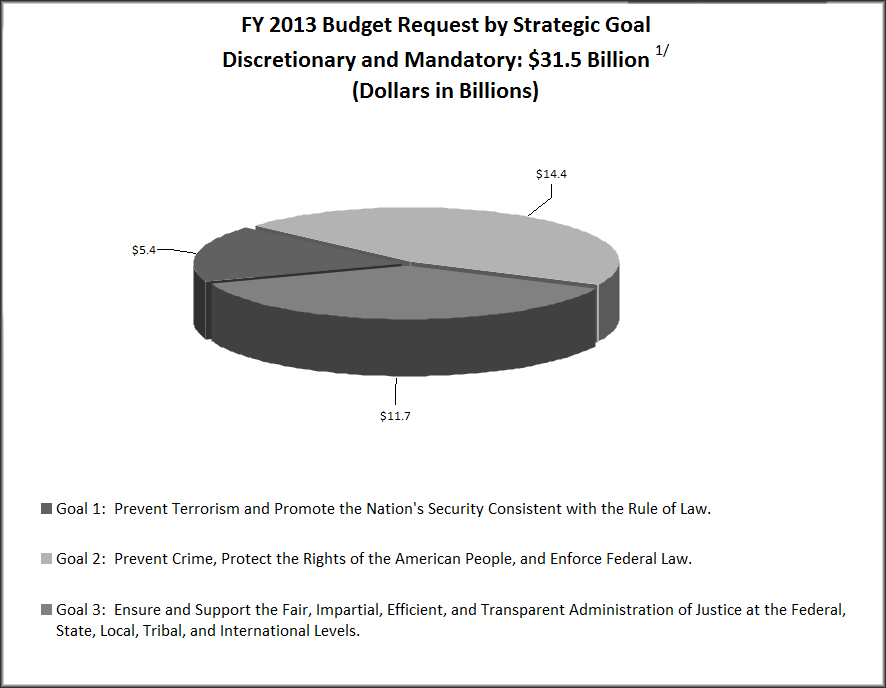 FY 2013 Budget Request by Strategic Goal