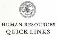Department of Justice Seal - Human Resources Quick Links