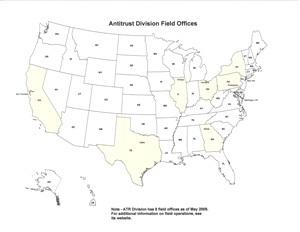 Antitrust Division Field Offices