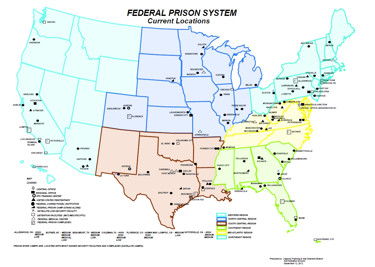 federal bureau of prisons field structure