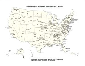 United States Marshals Services District Field Offices