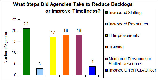 What Steps Did Agencies Take to Reduce Backlogs or Improve Timeliness?