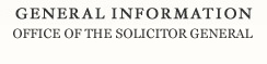 General Information Office of Solicitor General