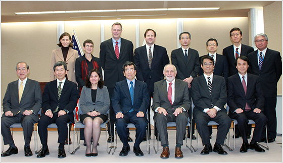 Senior officials from the Department of Justice, the FTC, and the JFTC at a bilateral meeting
