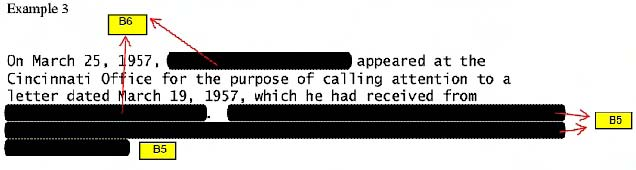 Example of Marking Redactions with Exemptions