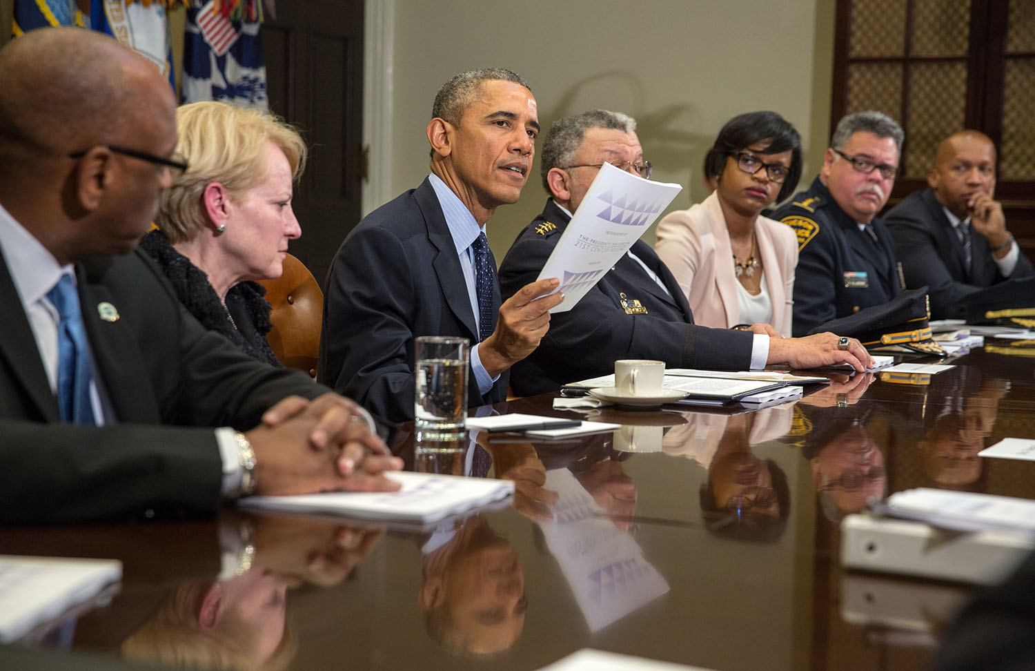 President Obama discusses the Task Force on 21st Century Policing
