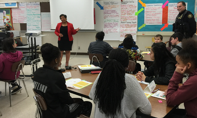 Attorney General Lynch visits with students at George Middle School