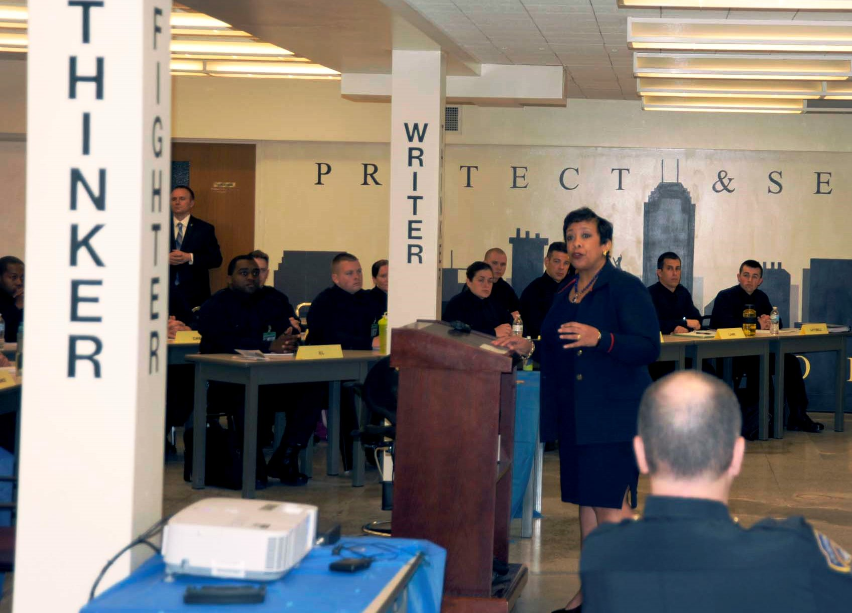 Attorney General Lynch Speaks to IMPD Recruit Class