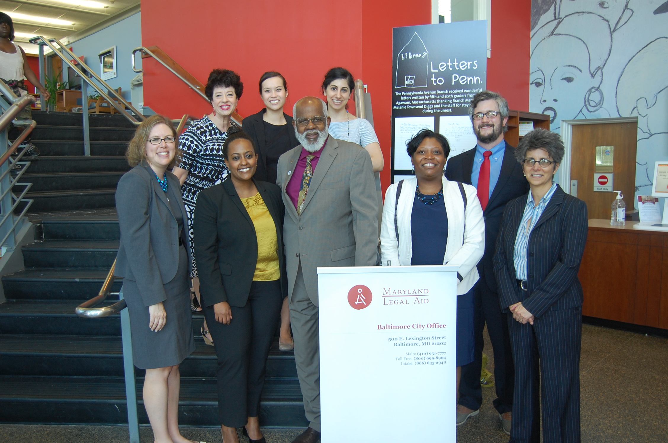 Members of the Office for Access to Justice at the Enoch Pratt Free Library