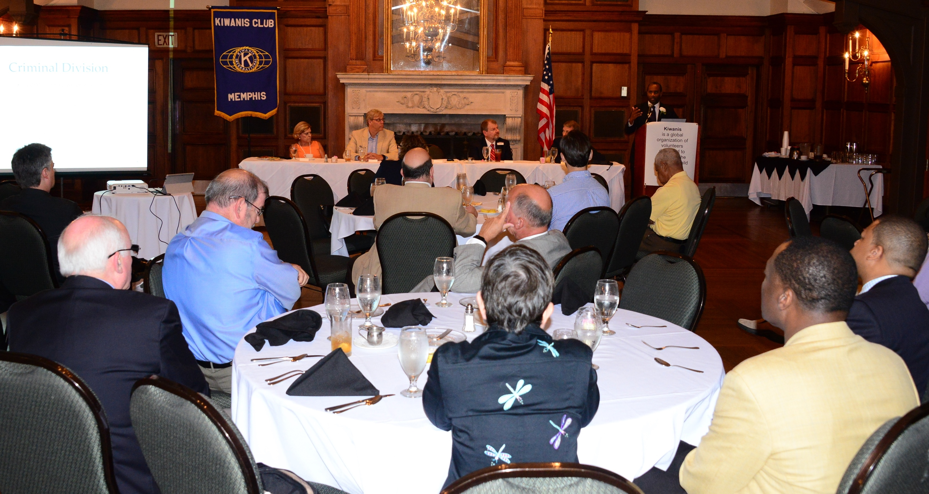 U.S. Attorney Stanton speaks to the Kiwanis Club of Memphis.