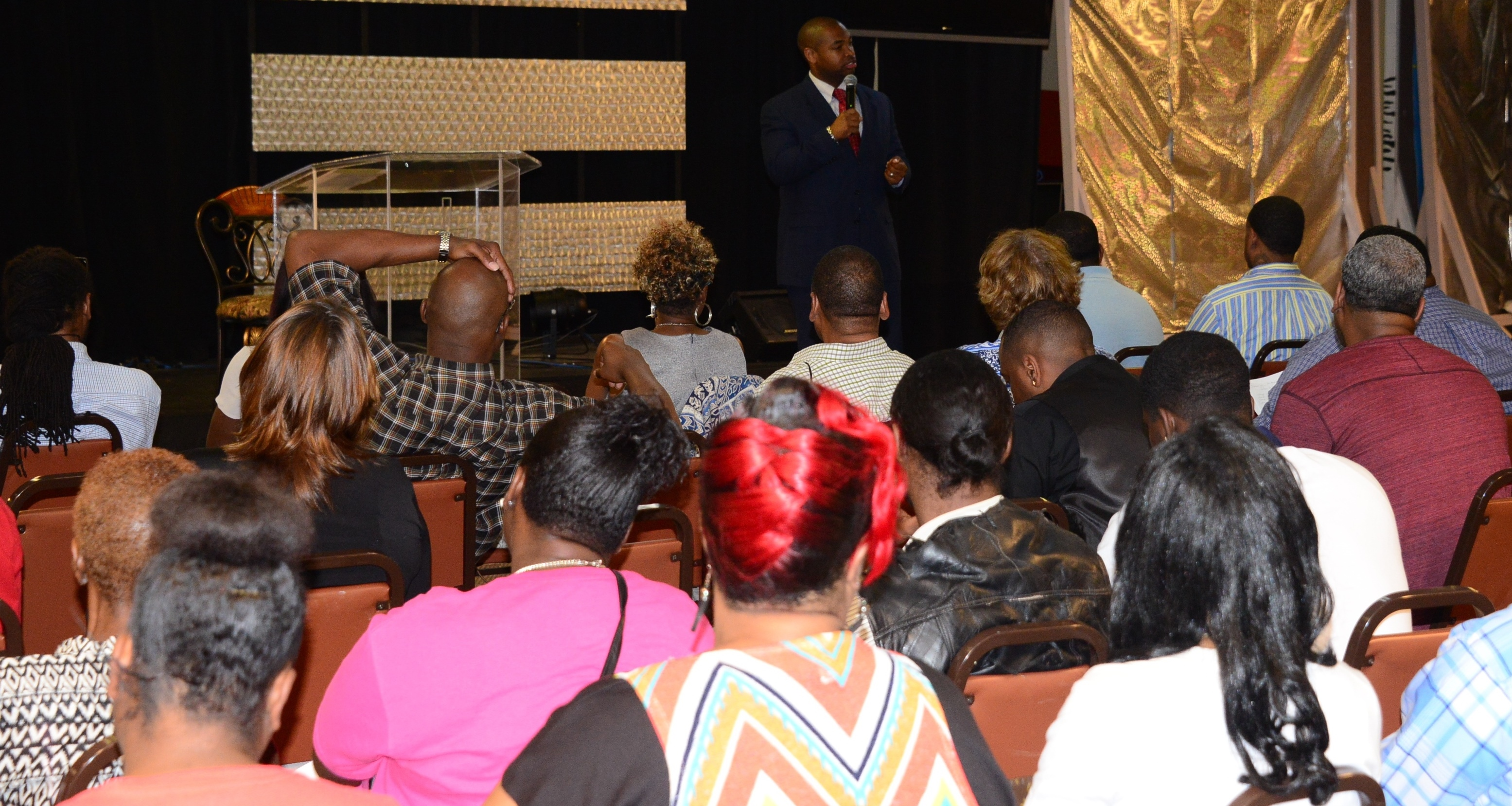 "EAUSA Biggers talks to ex-offenders about branding during ""Career Preparation Day"" event."