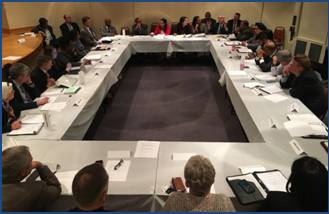 Government officials and community members discussed issues related to religious discrimination in employment at a roundtable held in Birmingham, Alabama, on April 20, 2016.