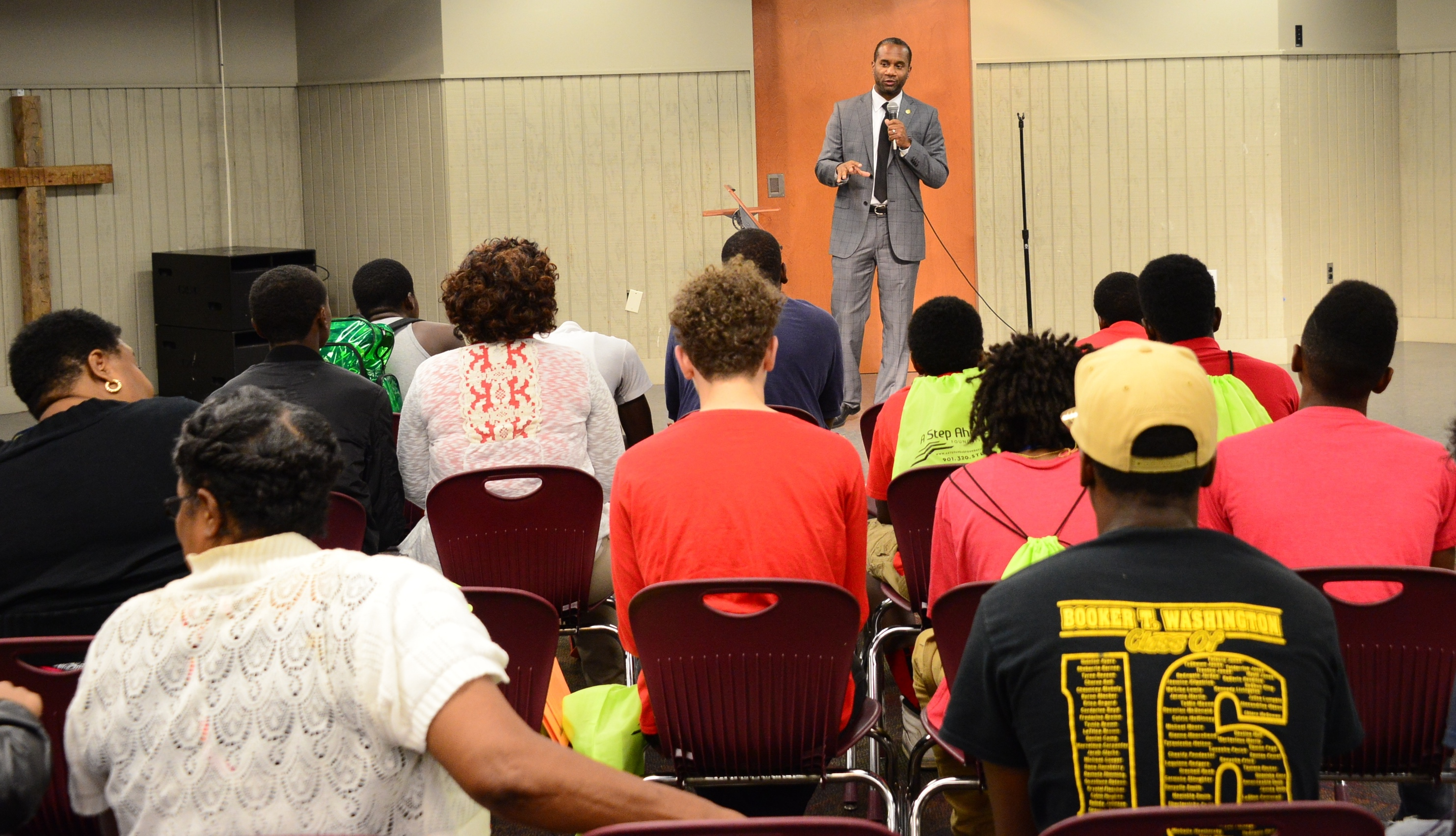 U.S. Attorney Stanton delivers keynote speech at DCS' Career Fair.