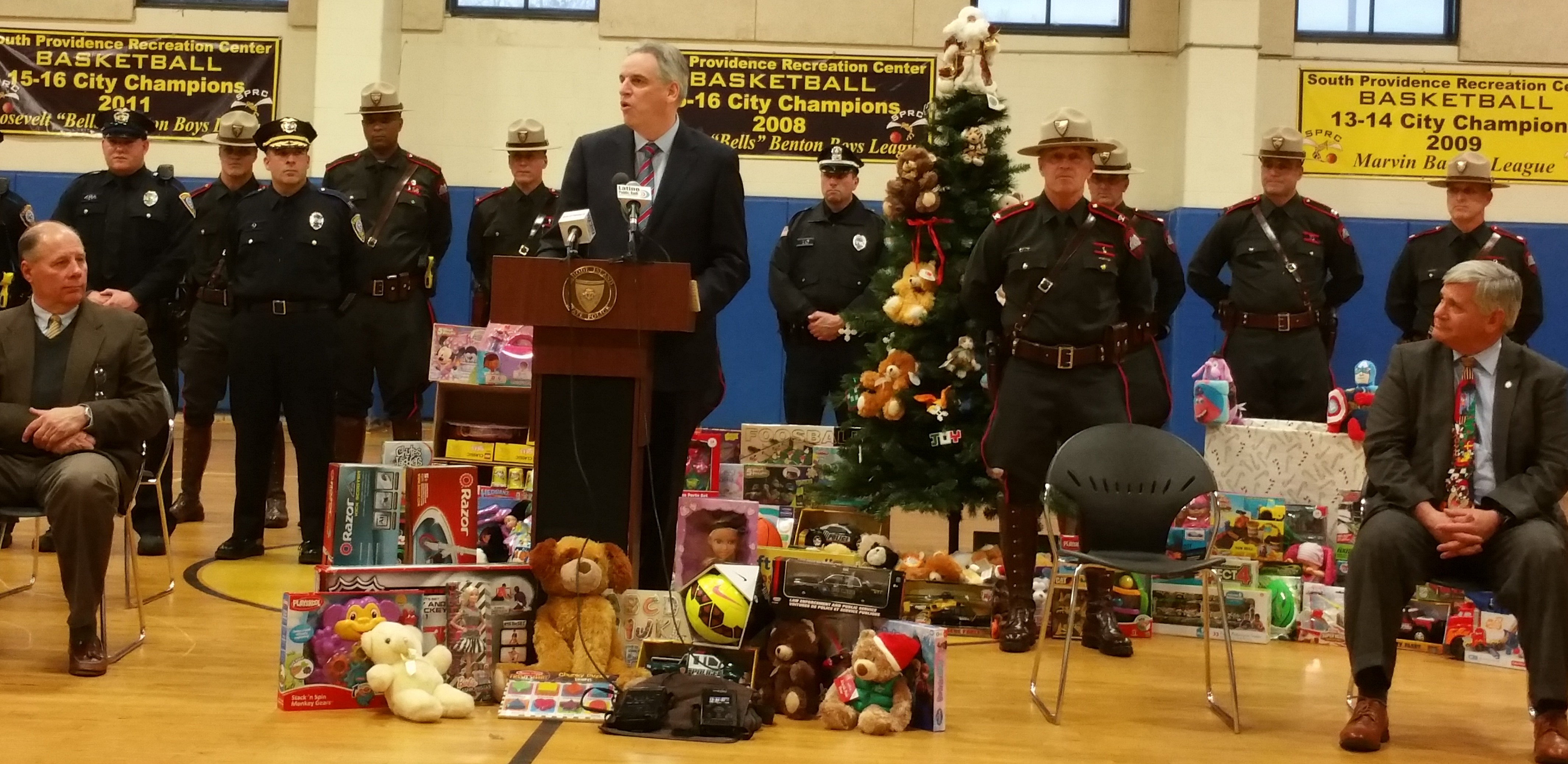 Law enforcement across Rhode Island collected thousands of toys for Christmas for the eighth consecutive year for families in need