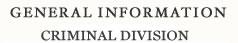 General Information - Criminal Division