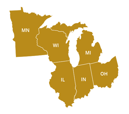 Midwest Regional Office Map