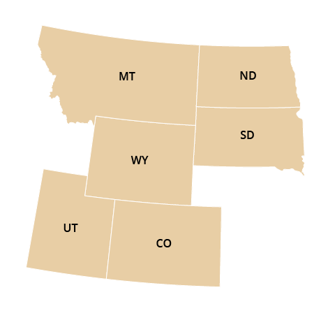 Rocky Mountain Regional Office Map