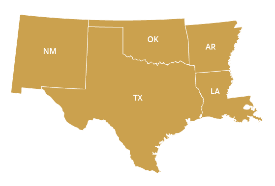 Southwest Regional Office Map